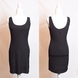 Rock & Republic Fitted Black Dress Rhinestones